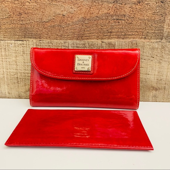 Dooney & Bourke Handbags - Dooney & Bourke Patent Leather Large Wallet